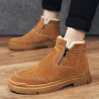 男鞋冬季雪地靴男士韩版潮流保暖加绒加厚棉鞋东北防水棉靴二棉靴