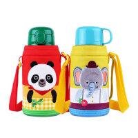乐扣乐扣儿童带吸管保温杯 幼儿园两用婴儿水杯带盖宝宝水壶550ml