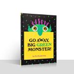 儿童英文原版绘本Go Away Big Green Monster走开大绿怪廖彩杏吴敏兰推荐洞洞书