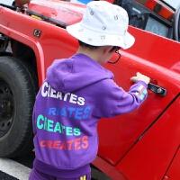 童装男童卫衣秋装连帽运动上衣中大童宽松潮