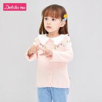 【折后价:118.5】笛莎童装女童针织衫2020春季新款儿童洋气外套小女孩毛衣开衫外套
