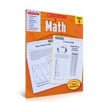 现货英文原版 Scholastic Success with Math, Grade 4 学乐必赢系列 成功英语:数学四