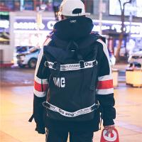 男潮流大容量旅行校园书包双肩包女韩版潮2018新款个性时尚背包