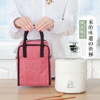 便当包饭盒袋便当盒带饭包帆布保温袋子饭盒包手提包铝箔厚款餐包