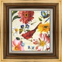 方形花鸟客餐厅玄关壁画装饰画