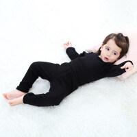 婴儿保暖套装宝宝秋衣秋裤套装上衣高腰护肚打底裤儿童内衣