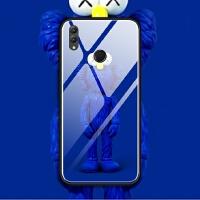 华为nova3i荣耀note10 8x max手机壳玻璃套软kaws芝麻街联名潮