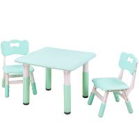 儿童桌椅套装学习桌椅子宝宝长方游戏写字玩具塑料家用幼儿园桌子 抖音