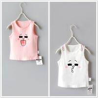 表情系卡通背心 女童上衣夏新款婴儿宝宝纯棉无袖T恤打底衫