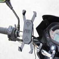 摩托�手�C支架usb充�器通用��榆���d�Ш�A自行�手�C架