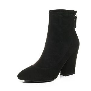 Belle/百丽2017冬新品优雅大方羊绒皮女中靴17711DZ7