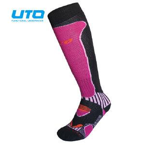 UTO悠途 羊毛滑雪袜子男袜加厚保暖女袜 登山长高筒袜 保暖吸汗快干袜113