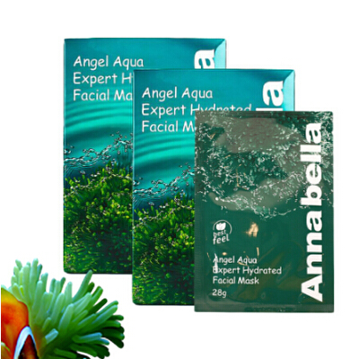 安娜贝拉Annabella海藻面膜深海矿物补水保湿收缩毛孔/10片海藻精华 深入补水 藻回水润透