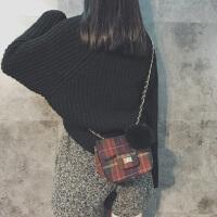 小香风包包女2018新款潮冬季韩版英伦迷你小方包简约百搭斜挎小包