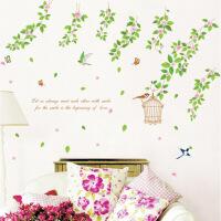 环保可移除墙贴客厅餐厅背景墙装饰贴画卧室床头墙饰贴纸鸟语花香 鸟语花香 特大