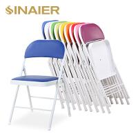 折叠椅 办公椅子培训电脑椅 餐椅家用简易便携学生寝室靠背折椅