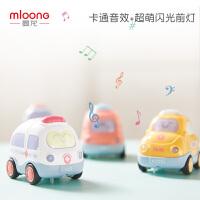 新款曼龙儿童玩具车男孩工程车警车1-2-3周岁宝宝益智玩具惯性车(四件套 声光惯性车)