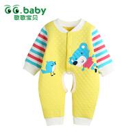 歌歌宝贝 婴幼儿秋冬保暖连体衣 婴儿冬季贴身内衣 宝宝保暖爬衣外出服