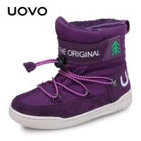 【1件3折价:101元】UOVO2020冬季新款儿童雪地靴男童靴子保暖女童棉鞋中小童儿童靴子 图林根