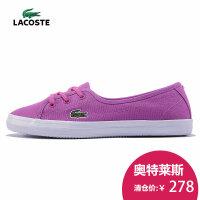 LACOSTE 法国鳄鱼 女 运动休闲鞋 低帮板鞋 帆布 懒人鞋29SPW1027