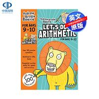 英文原版 让我们做算术题9-10 英国小学算术练习册9-10岁 Let's Do Arithmetic 9-10 英语小