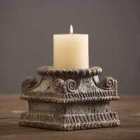 装饰品摆件创意客厅酒柜摆设家居饰品树脂工艺品复古北欧树脂烛台摆件