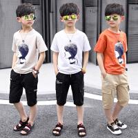 男童夏装新款套装中大童夏季童装儿童韩版短袖男孩两件套潮衣