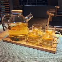 大容量玻璃冷水壶套装家用加厚防爆凉水茶壶耐热高温水杯水具套装