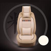 奔驰E级E200L E300 320L E180L E260L汽车座套冬季亚麻坐垫套 乳白色 豪*华版温馨米