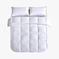 当当优品贡缎冬被 全棉立体超细羽丝绒被芯150x200cm单人被子 白色