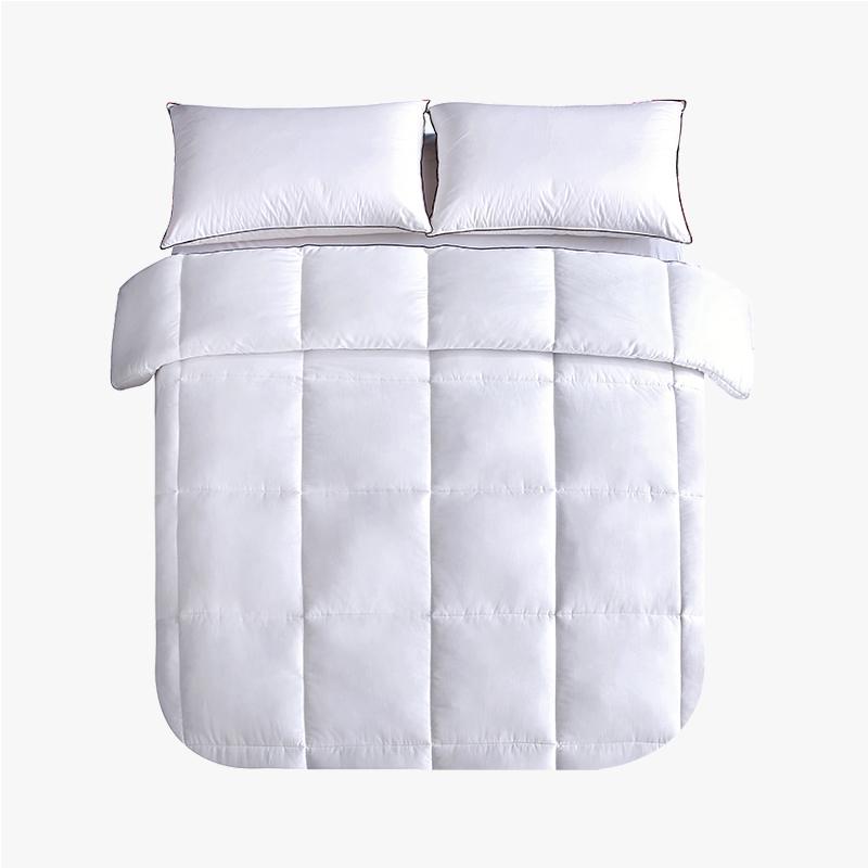 当当优品贡缎冬被 全棉立体超细羽丝绒被芯150x200cm单人被子 白色当当自营