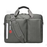 瑞士军刀单肩包笔记本电脑包14寸15.6寸电脑男女式斜挎休闲手提包