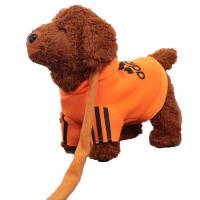 儿童电动泰迪狗牵绳狗毛绒玩具狗音乐会叫小狗狗狗走路会唱歌