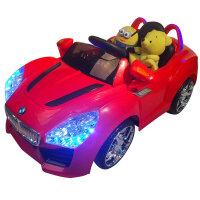 【当当自营】儿童电动车 宝马四轮电瓶车 宝宝带遥控电动汽车 可坐玩具汽车 双电双驱 8811红色