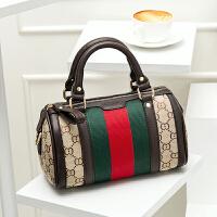 小包包新款欧美时尚波士顿枕头包迷你帆布包单肩斜挎手提女包