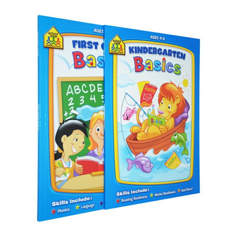 【4-7岁入学练习2册】School Zone Preschool /Kindergarten Scholar 入学基础技能练习 英文原版