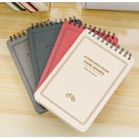 简约学生笔记本加厚记事本韩国创意120张双环上翻线圈本本子文具