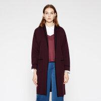 【全场2件2.5折,到手价:147.3】纯羊毛MECITY女装春秋纯针织开衫睡衣式毛织外套