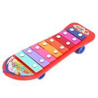 贝恩施手敲琴儿童音乐启蒙玩具木制敲琴台敲打玩具音乐早教1-3岁宝宝女孩音乐益智玩具