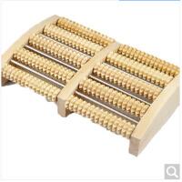 家用足底按摩器滚轮式腿部木质按摩穴位搓排木制脚底按摩器