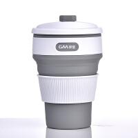 硅胶折叠水杯伸缩杯旅行杯便携咖啡随行杯暖手杯迷你隔热防漏情侣