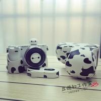奶牛M3索尼5T斑点A5100微单A5000佳能750D相机包M100 M10皮套100D