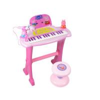 ?儿童电子琴 女男孩宝宝钢琴玩具琴带麦克风1-3岁小猪佩奇生日礼物?