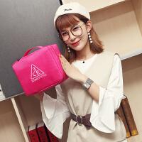 化妆包韩国旅行收纳包多功能大容量简约小号便携双层洗漱包防水布