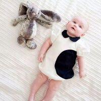 INS 欧美风女童宝宝黑白连衣裙 黑点点双层女孩气质裙礼服