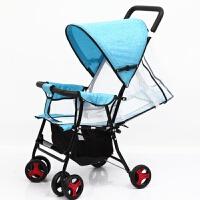 婴儿推车可坐可躺轻便折叠婴儿车高景观夏季儿童宝宝小孩手推车a318 +凉席+蚊帐+储物袋+棉垫