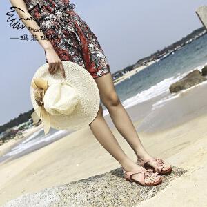 玛菲玛图沙滩凉鞋女夏2018新款夏天海边穿流苏平底人字拖森女文艺仙女凉鞋设计师女鞋M19816263T5