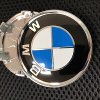 专用于宝马改装轮毂盖6厘米车轮盖 轮毂中心盖60mm轮毂标志蓝白色 汽车用品