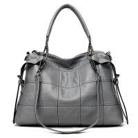 中年女包韩版机车斜挎包女单肩女士大包大容量软皮手提包