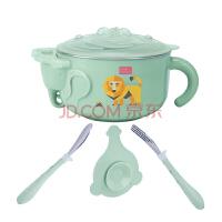 W 路途乐(lutule) 儿童餐具碗勺套装 宝宝碗吸盘碗辅食碗婴儿注水保温j13